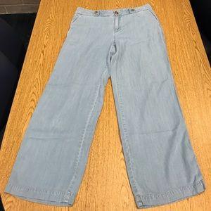Maison Jules wide leg high rise denim trousers 12